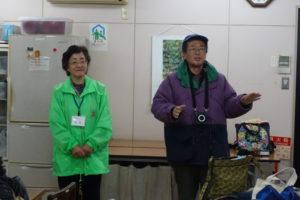本日のガイドを務めてくださる、宝塚文化財ガイドソサエティの古村さん。