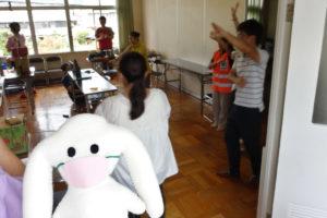 防災キャンプ2020(オンライン開催)まちキョンも宝塚音頭を踊っている?ところ